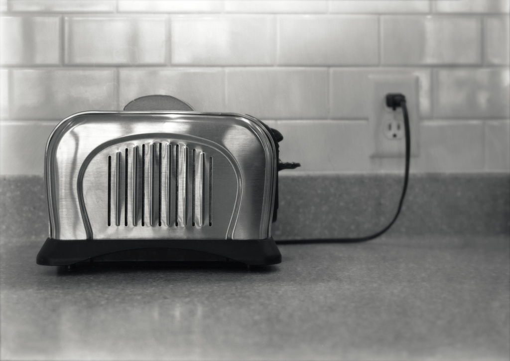 Toaster in Black and White