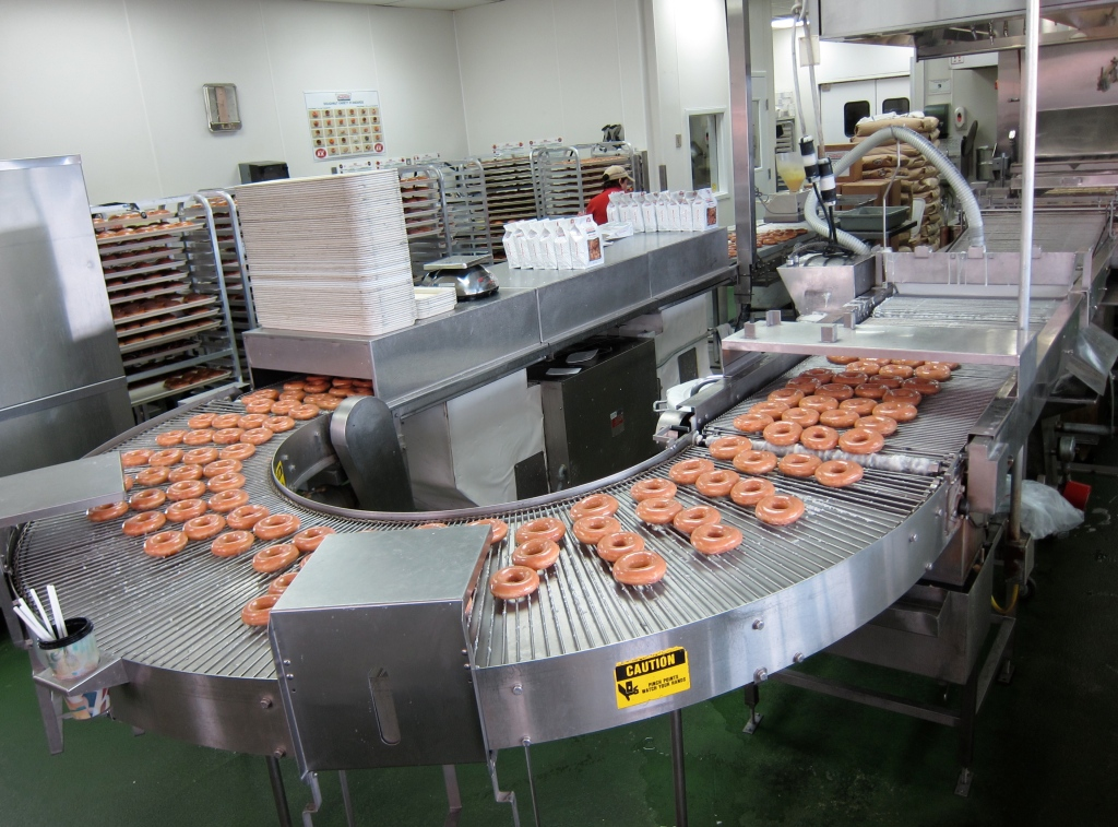 Krispy Kreme Doughnut Production Line