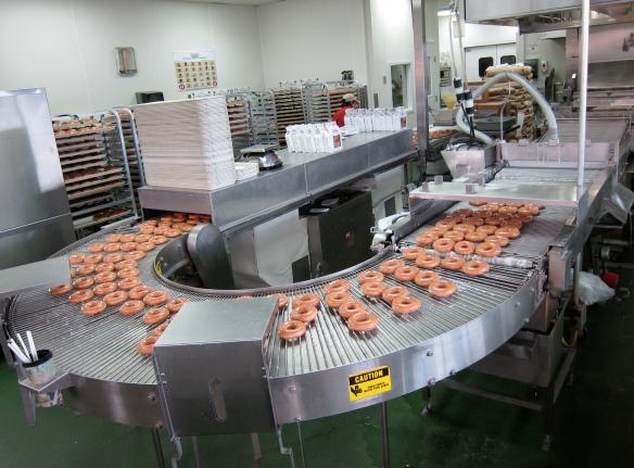 Krispy Kreme Doughnut Production Line