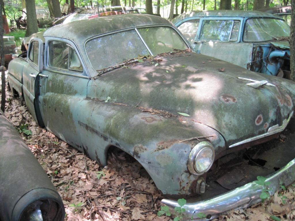 Car in a junkyard