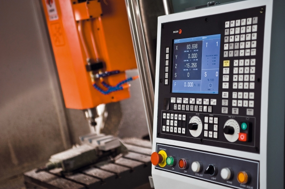 CNC Control Panel and Automated Machinery