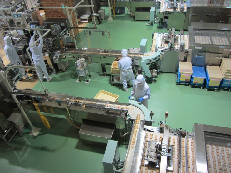 Shiroi Koibito cookie production line - Sapporo, Japan