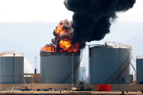 Gibraltar storage tank fire