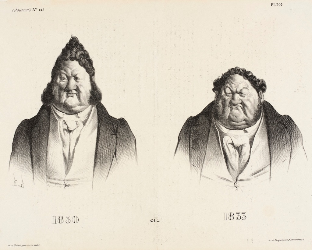 1830 et 1833 - Periodical Le Caricature, 15 August 1833, Honore Daumier (1808-1879)