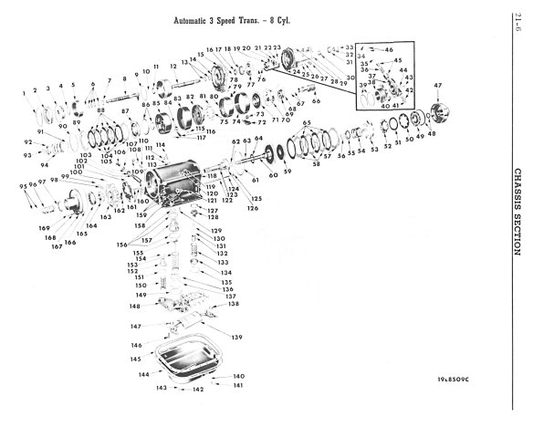 Torque-Flite Transmission (Exploded View)