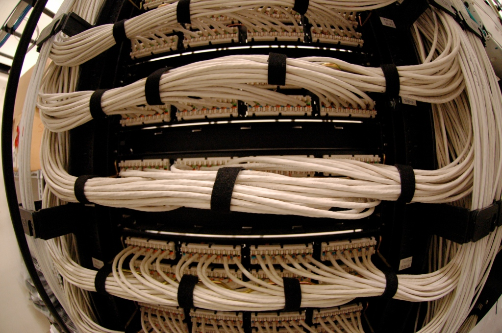Wiring Closet Patch Panel (fisheye)