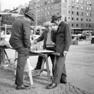 Chess Players at Medborgarplatsen in Stockholm 1957