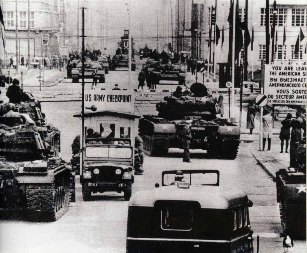 US Army tanks face off against Soviet armor at Checkpoint Charlie - Berlin - October, 1961