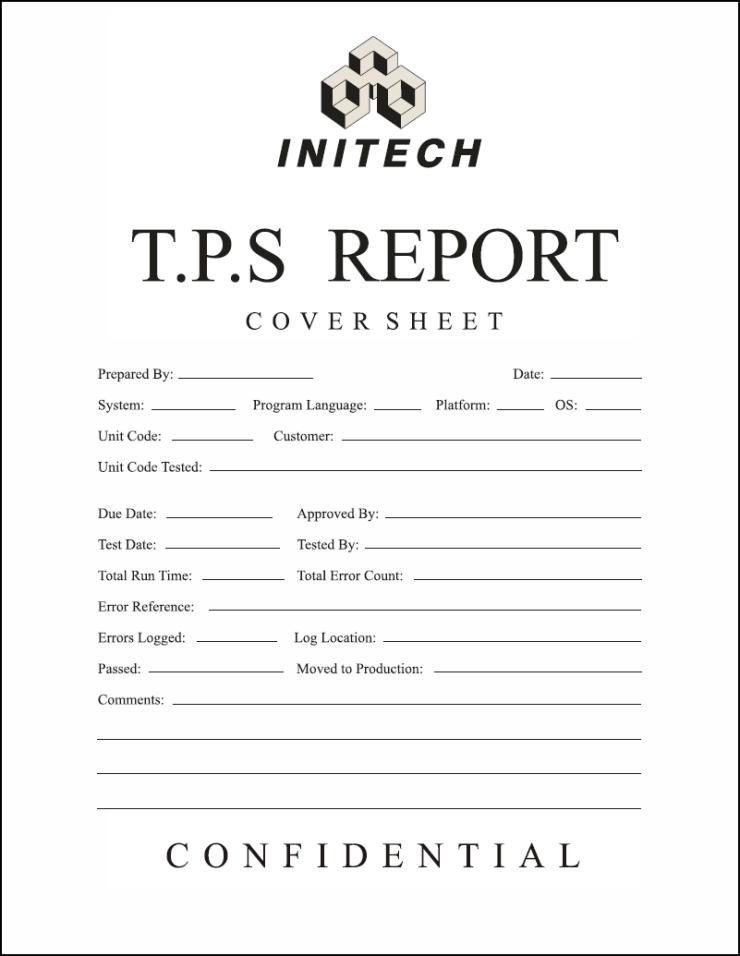 Initech TPS Report Coversheet