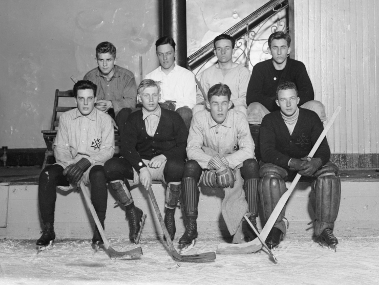 Princeton hockey team. Bain News Service, publisher. Library of Congress (LC-DIG-ggbain-08845)